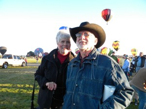 Frank and Sandy Young at the Balloon Fiesta, ABQ, NM, October 2010.